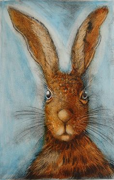 ARTIST: Ian MacCulloch Limited edition print created by using traditional printmaking processes. external size approx 42 cm w x 54 cm h Lapin Art, Illustrations, Illustration Art, Some Bunny Loves You, Rabbit Art, Bunny Art, Funny Bunnies, Art Graphique, Animal Paintings