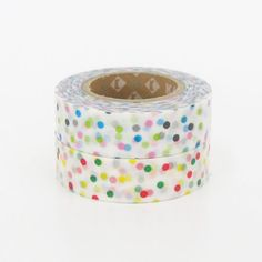 mt Washi Masking Tape  Colourful Confetti Dots Red by craftyjapan, $8.00