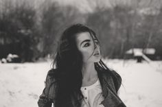 Winter, Hair, Photography, Black and white, DTPhotography