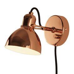 Focus Mini Vegglampe - Kobber fra Seeddesign