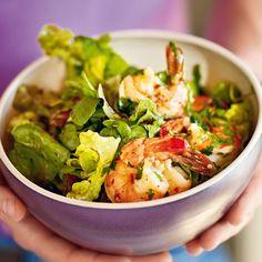 Nicht nur, wer auf seine Linie achtet, wird diesen knackig-frischen Salat lieben- und die scharfen Garnelen dazu sind das kulinarische I-Tüfelchen.
