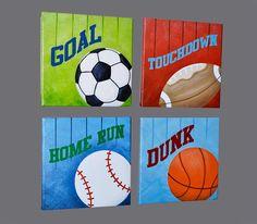Sports Wall Art Print Original Painting by FrogsAndFairytales, $70.00