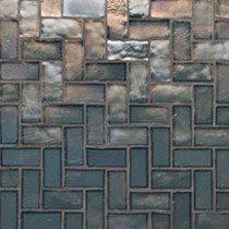 Tessera Herringbone Tahoe Irid Mosaic Pattern-Oceanside Glasstile