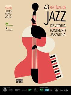 Festival Jazz Vitoria on Behance Event Poster Design, Poster Design Inspiration, Graphic Design Posters, Graphic Design Illustration, Bauhaus, Montreux Jazz, Festival Posters, Jazz Festival, Jazz Poster