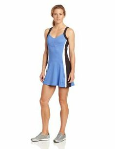 """Bolle Side Lines Tennis Dress by Bolle. $67.99. 92% Polyester/8% Spandex. Quick Dry Fabric keeps you cool and comfortable. Built in Shorts. 32"""" Dress Length. Moisture Wicking. Traditional Bolle women's tennis apparel offers a variety of styles with a classic fit. In addition to the outstanding fit and luxurious comfort, Bolle has a knack of placing seams, piping and color panels which compliment your figure. The traditional Bolle silhouettes are less fitted, and flatterin..."""