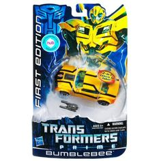 Transformers Prime Action Figure First Edition Bumblebee Hasbro.