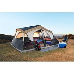 Northwest Territory Mountain Lodge 16-person Tent 16u0027x16u0027 - Kmart;  sc 1 st  Pinterest & Northwest Territory -18 x 10 ft. Chippewa Family Tent w/Closet ...