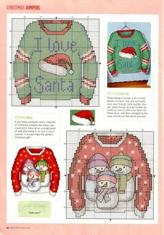 Tree Christmas Ugly Sweater Cross Stitch Card Shop Sept-Oct 2014 - page Stitch Card Shop Sept-Oct 2014 - page 17 Cross Stitch Christmas Ornaments, Xmas Cross Stitch, Cross Stitch Cards, Cross Stitching, Cross Stitch Embroidery, Christmas Cross Stitches, Cross Stitch Designs, Cross Stitch Patterns, Loom Patterns