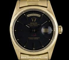 """What do you get the man that has everything? Say """"thank-you"""" this Father's Day and wrap Dads wrist in luxury. Choose that perfect gift from our finest selection of timepieces. Rolex 18k Y/G Very Rare Sultan Of Oman Dial Bark Finish Day-Date Gents 1803"""