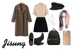 A fashion look from February 2018 featuring brown cashmere coat, woolen skirt and zippered ankle booties. Browse and shop related looks. Korean Fashion Kpop Inspired Outfits, Bts Inspired Outfits, Korean Fashion Trends, Korean Street Fashion, Kpop Fashion Outfits, Stage Outfits, Edgy Outfits, Dance Outfits, Bad Girl Outfits