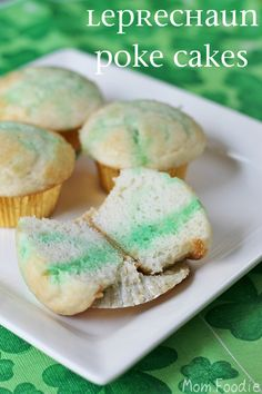Leprechaun Poke Cakes (A Fairy Tale Entwined in a Recipe) - Greedy little leprechauns poke their fingers in the cupcakes