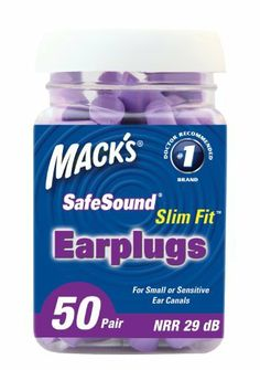 foam ear plugs - http://www.cirrushealthcare.co.uk