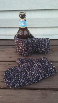 PATTERN-Crochet Beer Mitt and matching Mitten