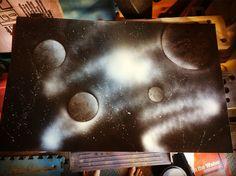#shepardsketches #spraypaint #original #galaxy #space #moon