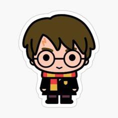 Harry Potter Sketch, Harry Potter Cartoon, Harry Potter Stickers, Harry Potter Disney, Cute Harry Potter, Harry Potter Drawings, Theme Harry Potter, Harry Potter Tumblr, Harry Potter Pictures