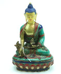 Mosiac Medicine Buddha Statue - Dharmashop.com