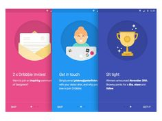 Dribbble Invite illustrations by Peter Finlan