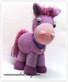 Pony Lilla  amigurumi PDF crochet pattern by Nowacrochet on Etsy, €4.50