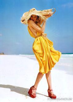Elise Crombez for UK Vogue May 2006
