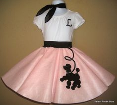 New 3pc Toddler Size Prancing Poodle Skirt by sarahspoodleskirts, $39.99