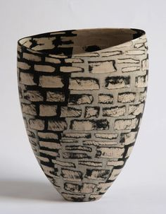 Ceramics by Carolyn Genders at Studiopottery.co.uk - Divisions Open Vessel (2007) 35hx13dx26w