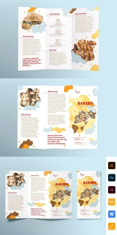 Bakery Brochure Trifold The Effective Pictures We Offer You About Graphic Design flyer A quality picture can tell you many Graphic Design Brochure, Corporate Brochure Design, Creative Brochure, Brochure Layout, Brochure Trifold, Brochure Template, Travel Brochure, Brochures, Pamphlet Design