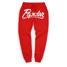 Popular Script Joggers Red ($60) ❤ liked on Polyvore featuring joggers and pants