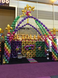 Our Mardi Gras themed booth at the Halloween & Party Expo. #hpe15