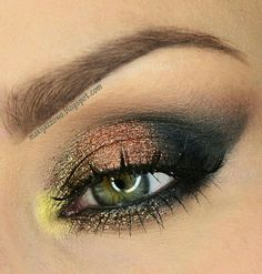 High Shimmer Gold Black and Brown Eyeshadow