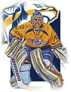 Pekka Rinne Nashville Predators Art Print by Joe Hamilton. All prints are professionally printed, packaged, and shipped within 3 - 4 business days. Choose from multiple sizes and hundreds of frame and mat options. Hockey Logos, Hockey Goalie, Ice Hockey, Hockey Sport, Hockey Girls, Hockey Mom, Hockey Stuff, Hockey Drawing, Predators Hockey