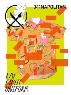 Eat Fight Uniform: Napolitan - Aoyama Nozomi Graphic Design Brochure, Japanese Poster, Japanese Graphic Design, Japan Style, Japan Fashion, Collage, Colour, Feelings, Illustration