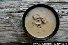 A memorable creamy mushroom soup seasoned with Hungarian paprika- looks so easy! Just a bunch of stirring and pouring.