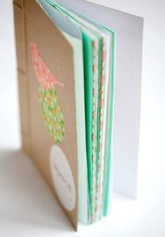Easy book binding tutorial and other DIY ideas