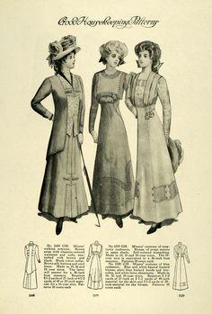 edwardian suits women | 1909 Print Edwardian Fashion Women Children Clothing Accessories ...