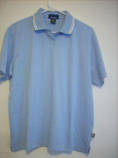 Men's Light Blue EmbroidMe Polo Short Sleeve Shirt Size XL Cotton Blend - SOLD!