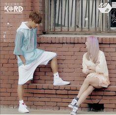 Kim Taehyung: Ngl his jumper is really cool Hyuna Red, Kard Bm, Dsp Media, Fandom, Korean Artist, K Idols, Taehyung, Ballet Skirt, Photoshoot