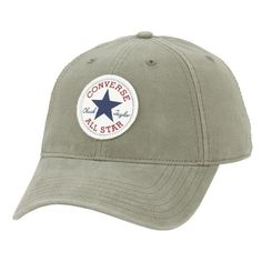 Converse 'Core - Classic' Ball Cap (€22) ❤ liked on Polyvore featuring men's fashion, men's accessories, men's hats and surplus green