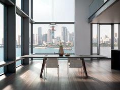 Lacquered laminate kitchen SPACE PROFILE C & HANDLE by GD Arredamenti