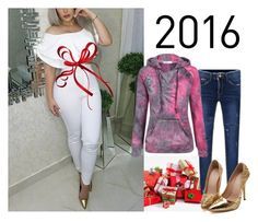 """""""2016 merry christmas"""" by suger-520 on Polyvore featuring jeans, jumpsuit and lovelywholesale"""