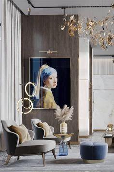 Minimal Bedroom Design, Living Room Designs, Living Room Decor, Modern Entryway, Interior Design Inspiration, Design Ideas, Inspire Me Home Decor, Luxury Living, Luxury Penthouse