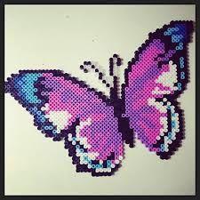 hama perler sommerfugl