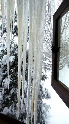 Huge Icicles!!,these are small compared to the ones we had