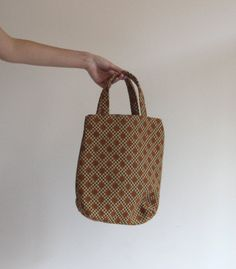 Vintage Tote Bag  60s  70s   Handbag  Carpet Bag by llllllllllll, $20.00