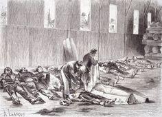 Siege of Paris burying the dead 1871 FrancoPrussian War France 19th century