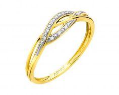 Pierścionek Z żółtego I Białego Złota Z Brylantami Wzór 181150