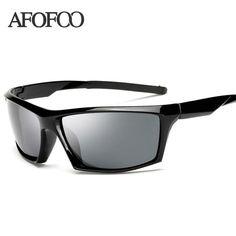 e7831ed1e3 FuzWeb AFOFOO Polarized Sunglasses Men er Square Night Driving Male UV400  Shades Goggle Eyewear Night
