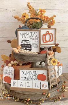 Fall Decorations, Thanksgiving Decorations, Seasonal Decor, Harvest Crafts, Autumn Crafts, Abc Crafts, Diy Home Crafts, Fall Halloween, Halloween Crafts