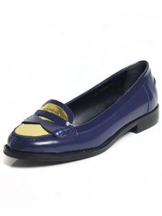 Metal Leather Flat shoes | Choies