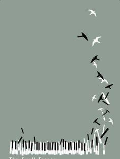 Entre aves volando