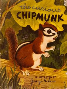 The Curious Chipmunk by Muriel Laskey van ElwoodAndEloise op Etsy